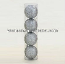 6CM Silver Glitter Christmas ball Ornament