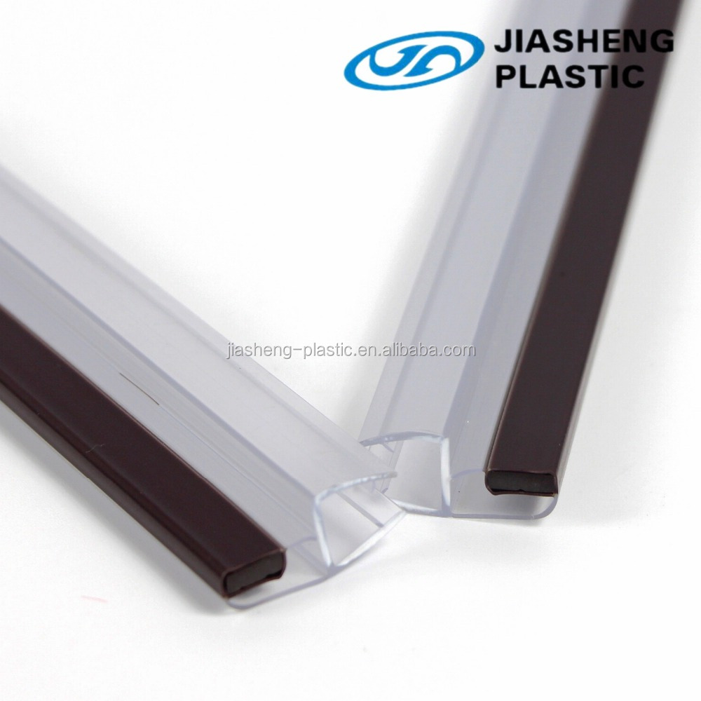 Top quality Extruded magnetic pvc strip rubber sealing strip for glass door