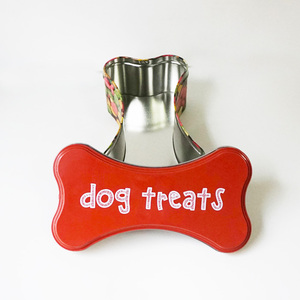 Manufacture tin box with shape of bone metal can dog food box