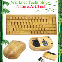 full bamboo wireless keyboard and mouse set WKKG101-N+MG94-N
