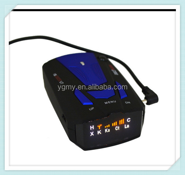New Car Radar Detector 16 Band Voice Alert V7 Anti Radar Detector LED Display 360 Degrees Car Speed Testing System