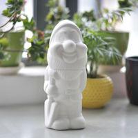paintable funny garden ceramic gnome for children