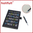 interesting PU leather cover pen notebook personalized gift boxed set