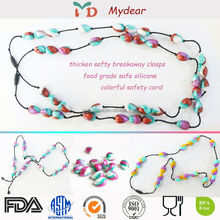 Fashion baby silicone teething beads necklace / silicone necklace teething