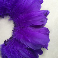 factory wholesale dyed eggplant 15-20cm goose feather for sale cheap