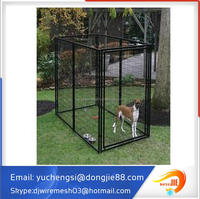 4x8x6ft Outdoor Dog Run Kennel with Shade Top to Avoid Sunshine, Rain and Snow