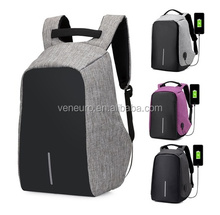 New Design Laptop Backpack Unisex Waterproof Business Travel Knapsack Anti Theft Bag With USB Charger