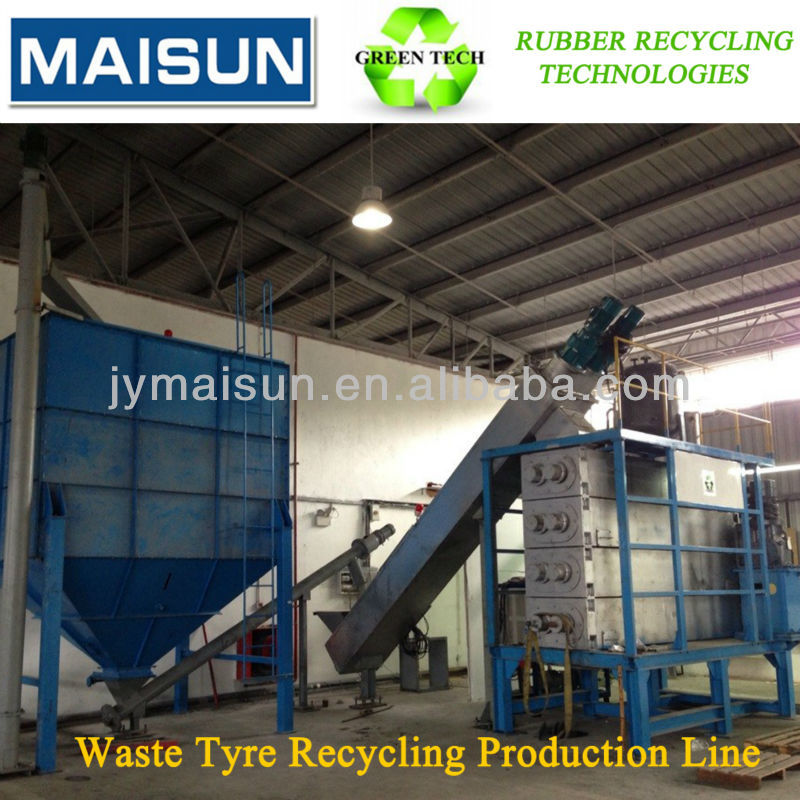 rubber devulcanized machine; waste tyre recycling production line