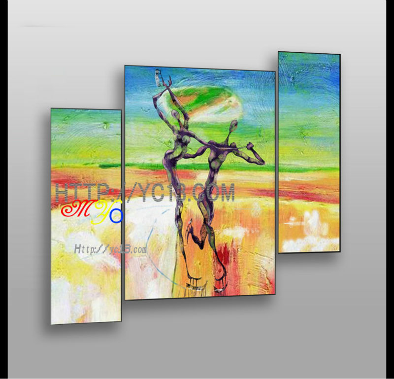 Factory supply handmade sport styles panel oil painting modern handmade home decor