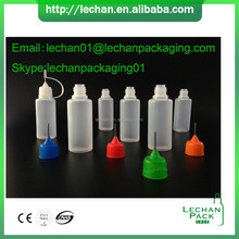 Recyclable colorful PET PE plastic squeeze dropper bottles with needle tip and cap