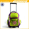 embroidery girls fancy eminent trolley bag backpack for school