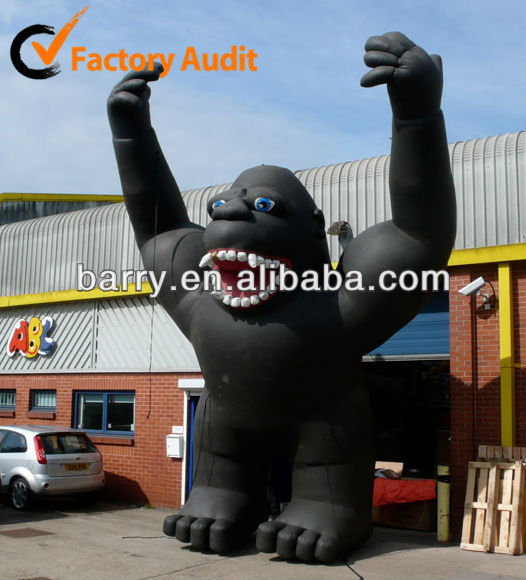 2013 hot sale inflatable character, inflatable king kong