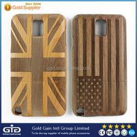 USA UK Flag Wooden Case For Samsung N9006, For Note 3 Wooden Case