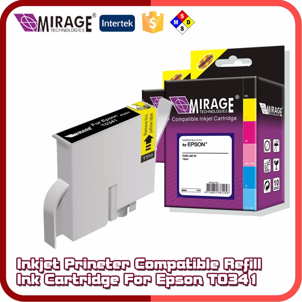 Inkjet Compatible Refill Ink Cartridge For Epson T0341