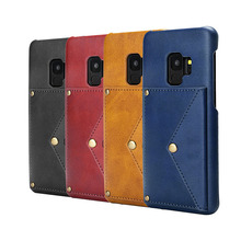 Wallet Leather Slim Back Case Cover With Credit Card Holder Mobile Phone Case for Samsung S9 Plus
