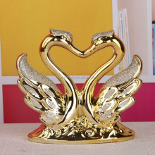 Modern home decor craft regalo/galvanizado mate cisne de <span class=keywords><strong>cerámica</strong></span> para la decoración casera/regalo de boda