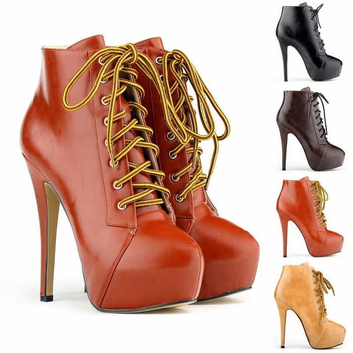 2015 Fashion Women Boots High Heels Ankle Boots Platform Shoes Designer Women Shoes Autumn Winter boots for ladies