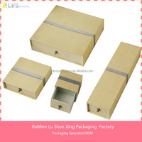 2015 Custom Handmade paperboard packaging jewellery box with sponge inserts