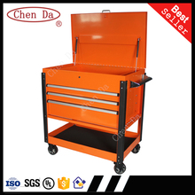High quality new designed 3 drawers lockable metal heavy duty tool box/ tool cabinet/ drawer trolley