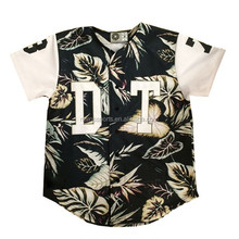 Hot Sublimated Camo Brand Embroidery Baseball Jersey