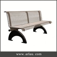 Arlau Cast Iron Bench Frame, Metal Outdoor Furniture Bench, White Metal Garden Bench