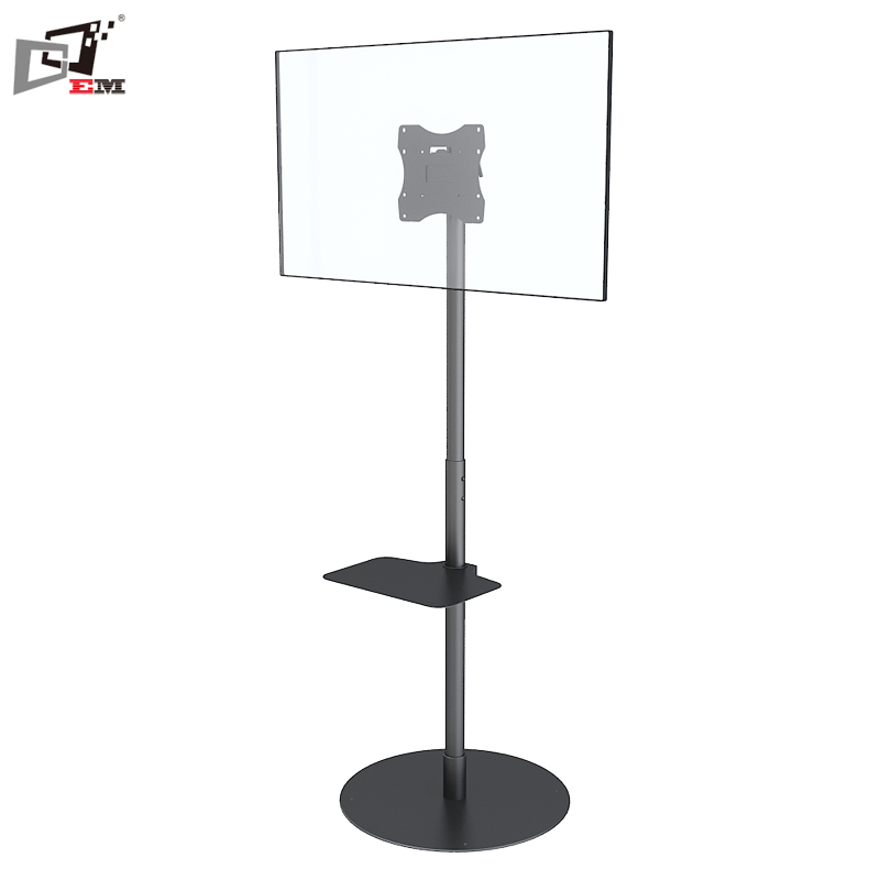 Swivel 360 Degree Adjustable Modern LED Floor <strong>Stand</strong> With DVD Holder