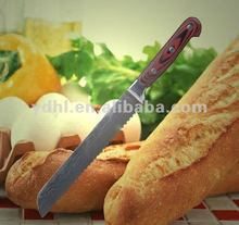 damascus steel serrated bread knife