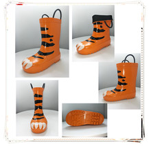 Fancy tiger cheap baby shoes kids rain boots