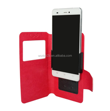 Super Slim PU Leather Universal Case for Mobile Phone with Stand