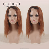 Wholesale Cheap U part wig ombre 3/30 color kinky straight short bob hair wig
