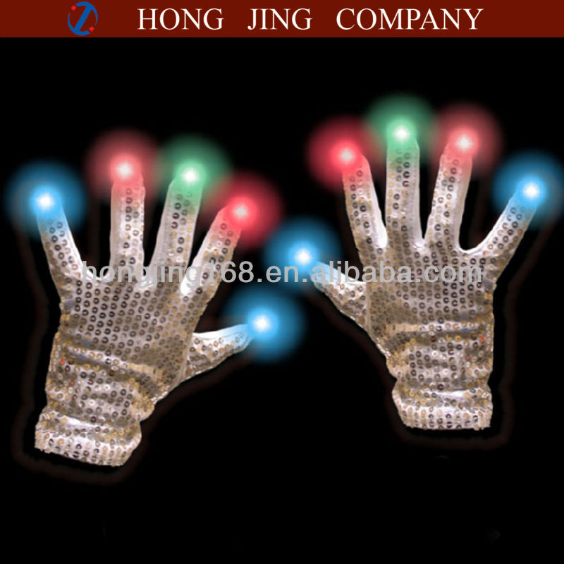 Children's Light Up dance Sequin Gloves
