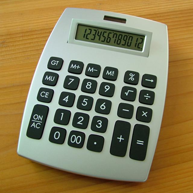 solar power desktop calculator