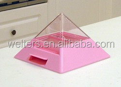 Pyramid (red) plastic automatic toothpick container