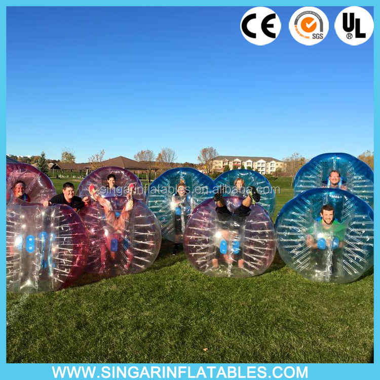 Free shipping top quality PVC TPU 1.5m diameter bubble zorbs bumper ball knocker ball