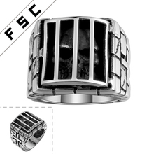 Punk Skull Mens Biker Style Stainless Steel Ring for Men