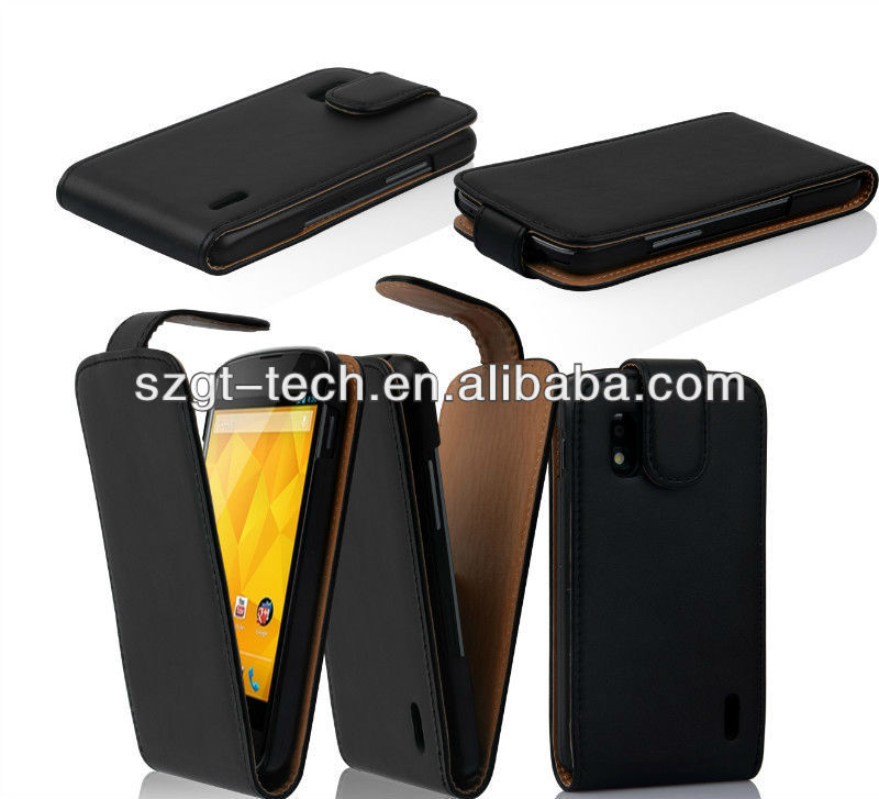 Hot Selling Flip Leather Case for Google LG Nexus 4, for Nesus 4 Case