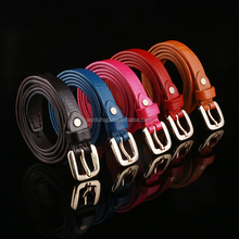 Hot Fashion Colorful Top Grain Cow hide Leather Ladies Women Belt