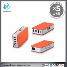 60W AC Line Input 5USB Strong Power Slim Mobile Charger