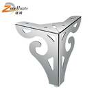New wholesale custom furniture hollow carved chrome steel metal iron modern sofa leg