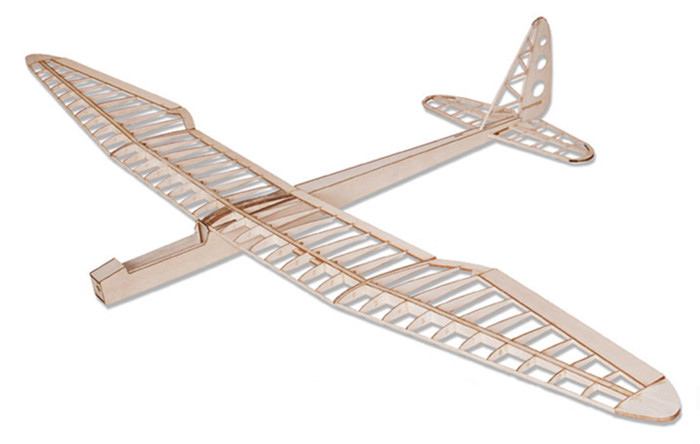 Balsa Wood RC Airplane <strong>Model</strong> Sunbird Balsa KIT 1.6M Wingspan Electric Control Fixed Wing Glider Only KIT Without Covering