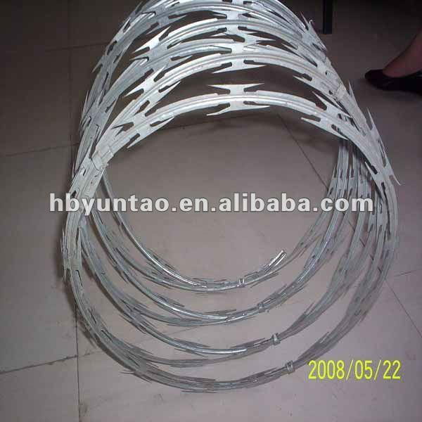 High quality and Lowest price cross type razor barbed wire