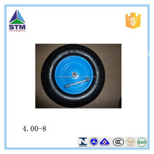 pneumatic small rubber wheel 4.80/4.00-8 bend& straighr valve