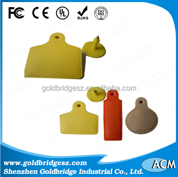 China alibaba animal Identification tracking rfid uhf ear tag for Dog / Sheep / Cow / Pig