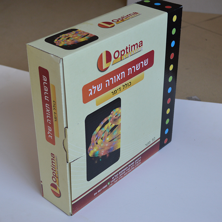 Top Quality corrugated die cut window gift box Top Quality
