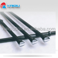 Integral drill rods for mining and drilling