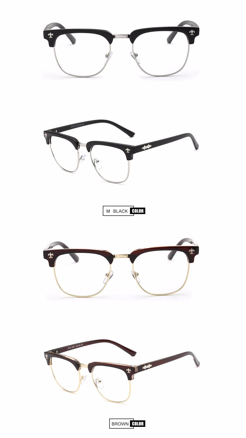 CF8130 China Neueste Mode PC Rahmen Brillen ohne Nasenpads Brillen ...