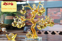 Yellow crystal apple rich cash cow furnishing articles wing lucky tree home decoration and crafts opening gifts sitting room