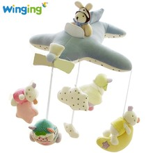 Popular Soft musical hanging baby toy stuffed plush baby toy