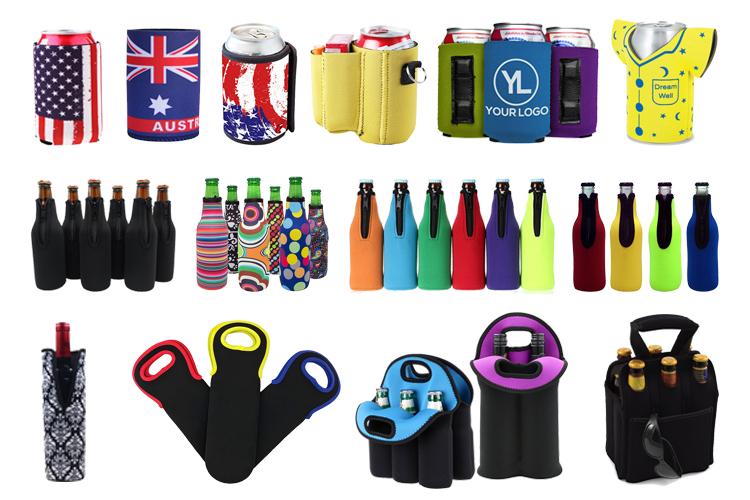 Customized Soft Drink Collapsible Neoprene Coolers Beer Can Cooler Holder