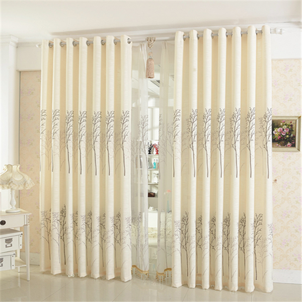 Hot sale circular pattern valance blackout curtains and drapes made in China